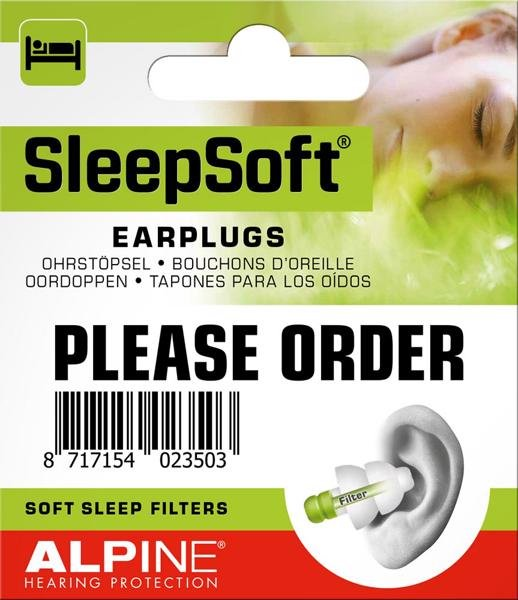 bịt tai chống ồn alpine soft sleep filters