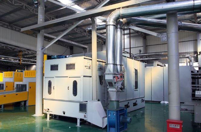 dây truyền trong quy trình sản xuất vải không dệt công ty juwu