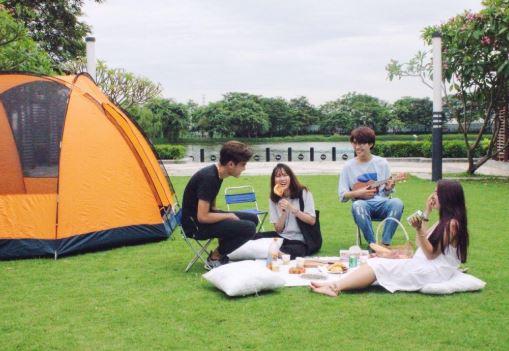 ecopark địa điểm cắm trại gần hà nội