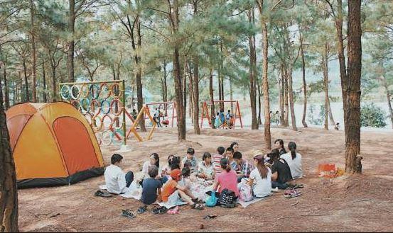 thiên phúc lâm địa điểm cắm trại gần hà nội