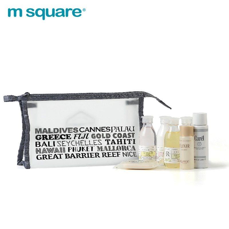 Set 2 túi đựng mỹ phẩm trong suốt Msquare