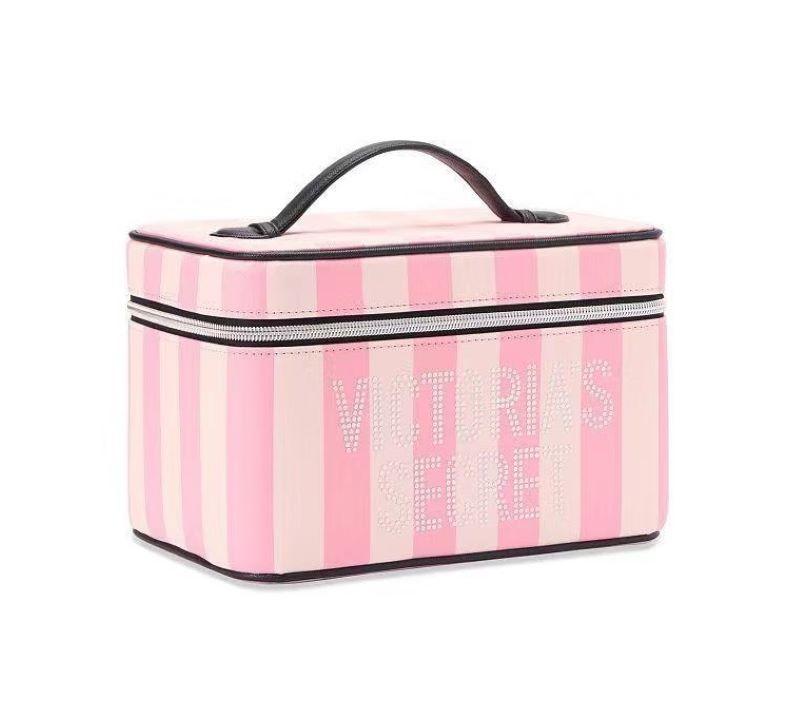 Túi đựng mỹ phẩm Victoria Secret Runway Vanity Case màu sọc hồng